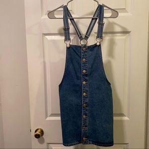 Forever 21 Dresses - Button up denim overall dress